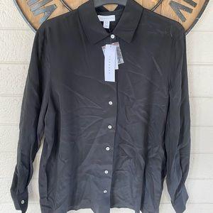 TopShop Oversized Silk Shirt